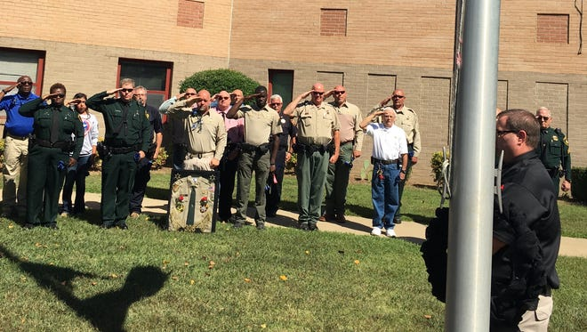 The Crockett County Sheriff's Office and Madison County Sheriff's Office remembered Deputy Rosemary Vela on Wednesday with her family at a memorial service in Alamo.