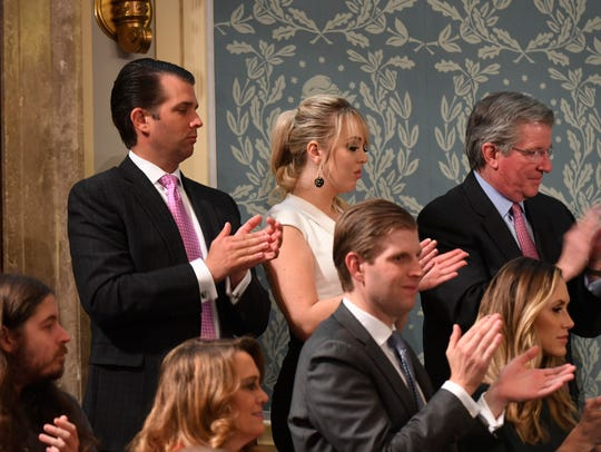 Three of President Trump's children at the State of