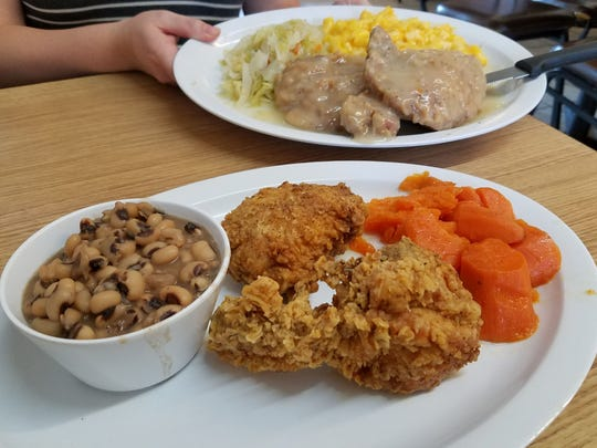 The smothered pork chops are a customer favorite at