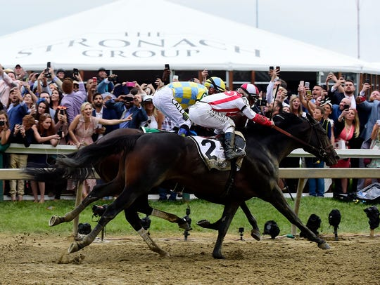 Cloud Computing (2) wins the 142nd running of the Preakness