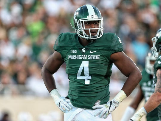 Malik McDowell, who was ejected after being flagged