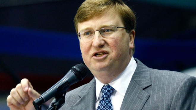 Legislation to  phase out Mississippi's franchise tax will likely appear at the legislative session that starts in January. Lt. Gov. Tate Reeves, shown here speaking Thursday at Hobnob, included a similar measure in his tax reform package last legislative session.