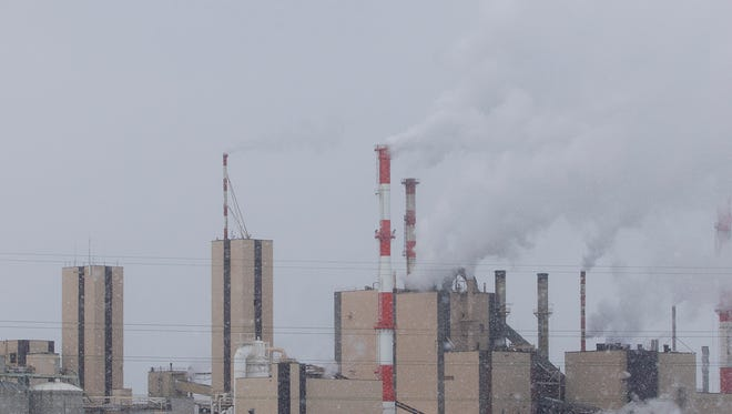 Verso's paper mill in Wisconsin Rapids, Tuesday, Jan. 26, 2016. Verso filed for bankruptcy to restructure its debt.