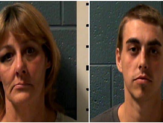 Mom, son arrested
