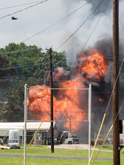 Fire engulfs Tyler Welder Supply in Tyler, Texas, Tuesday