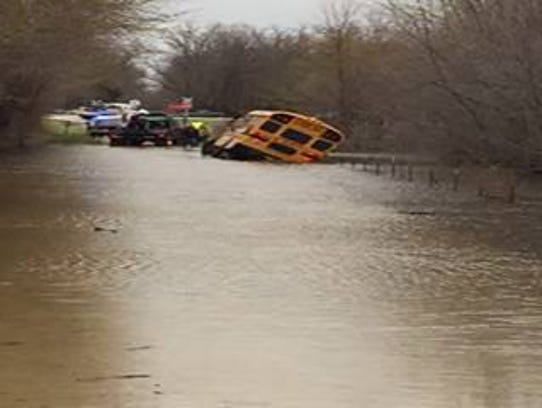 A Billings school bus hauling 20 students early Thursday