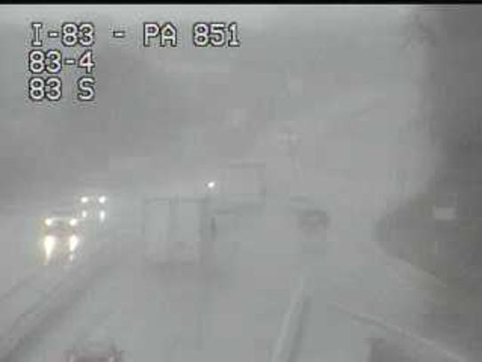 A crash on Interstate 83 northbound near the Shrewsbury