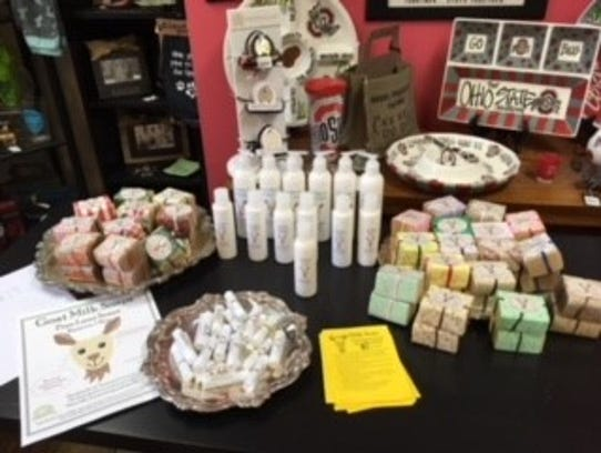 In addition to a full line of soap and skincare products,