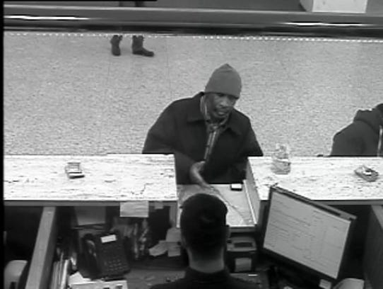 A man first attempted to rob a bank in Wilmington and
