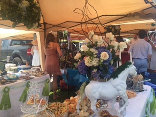 The Topside Tailgaters' space at the Iroquois Steeplechase