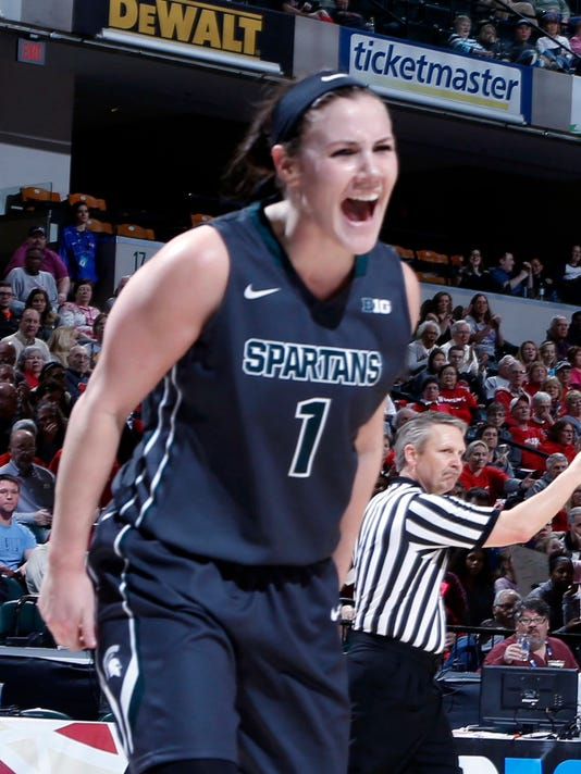NCAA Womens Basketball: Big Ten Conference Tournament Ohio State v Michigan State