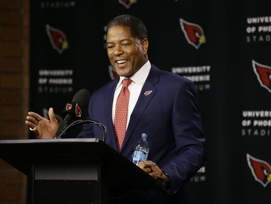 Steve Wilks is introduced as the new head coach of