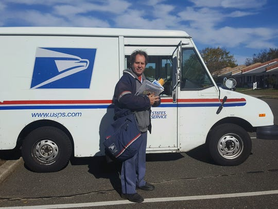 Gary Nodes delivering the mail.