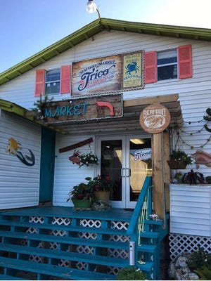 Trico Shrimp Co and Seafood Market on Fort Myers Beach.
