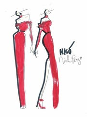 Nick Perez's gown sketches.