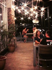 The patio at We Olive and Wine Bar.
