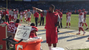 Darnell Dockett taunted Raiders fan with a sign.