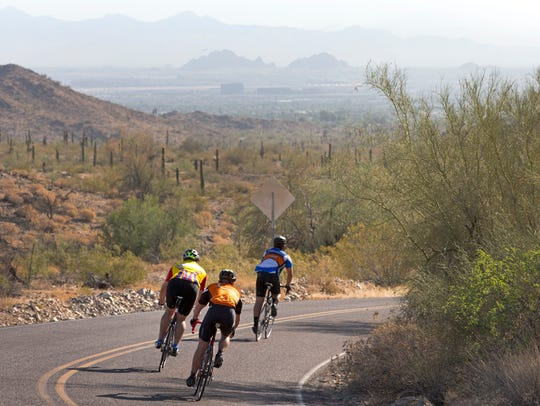 South Mountain Park cyclist
