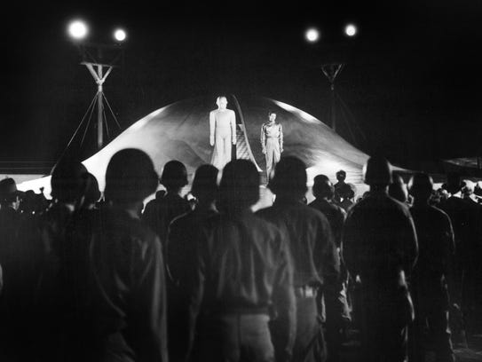 "A scene from ""The Day the Earth Stood Still"" (1951)."
