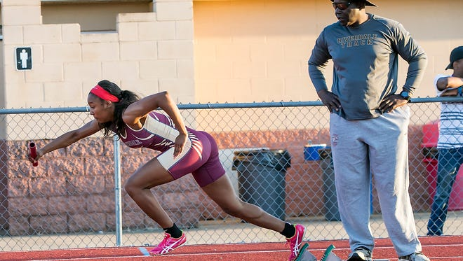 Riverdale junior Anastasia Hayes won two individual events and achored a winning relay on Monday in the L.D. Agee Rutherford County Girls Track and Field Championships at Oakland High.