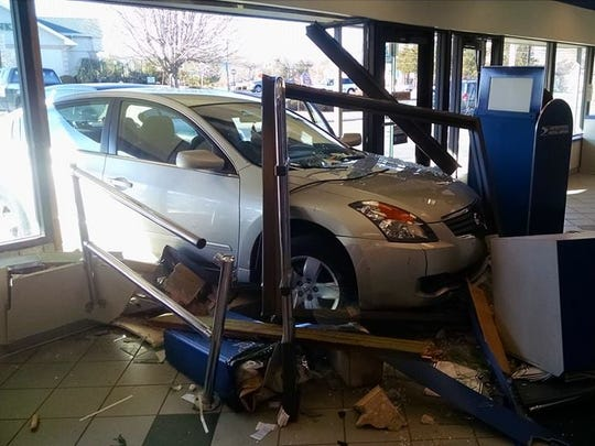 A Nissan driven by a 23-year-old Washington Township