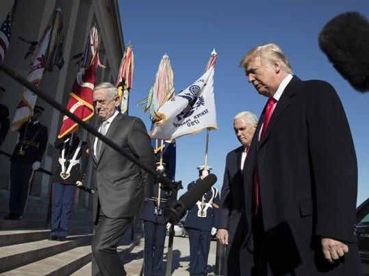 Donald Trump, Mike Pence, Jim Mattis