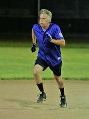 Rounding second base for IPS is Tim Kubera, one of nine original players on the squad.