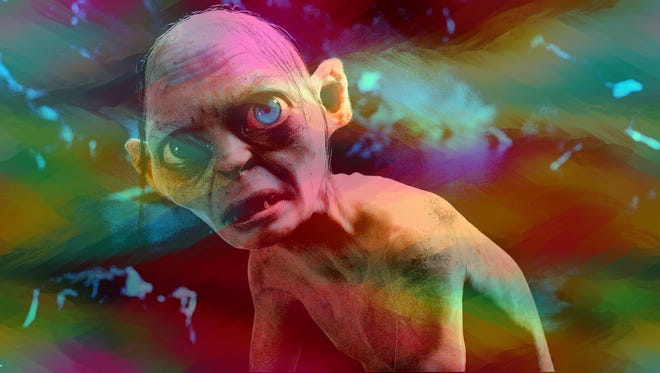 """Gollum, a creepy fixture in """"The Lord of the Rings"""" trilogy, was played by Andy Serkis. But John Lennon would have played the creature in The Beatles' version."""