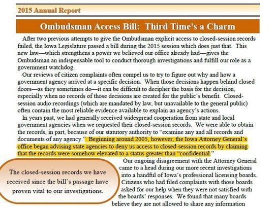 Ombudsman report file clip