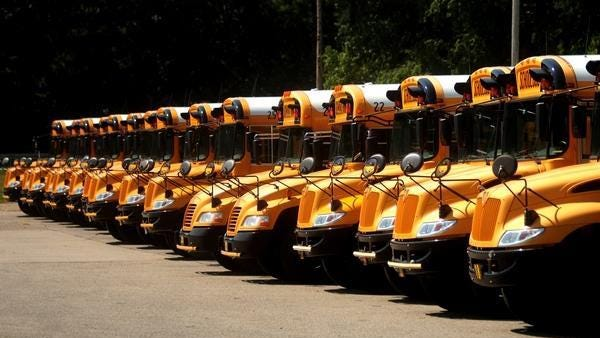 Hamilton Community Schools and Saugatuck Public Schools are part of a group of districts receiving grants to replace older buses with newer, more environmentally friendly vehicles.