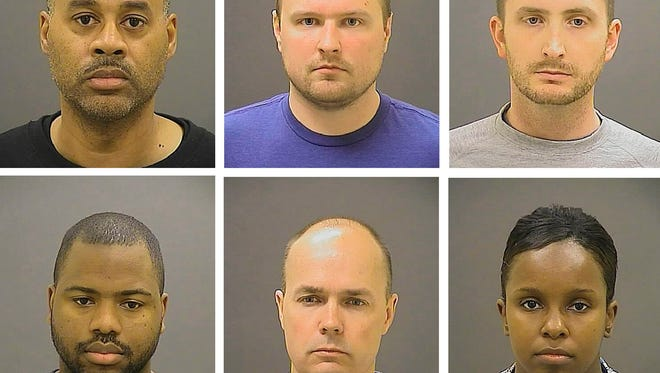 A judge ruled Sept. 10, 2015, in Baltimore that six city police officers would be tried in the city in the death of Freddie Gray, who died in police custody.