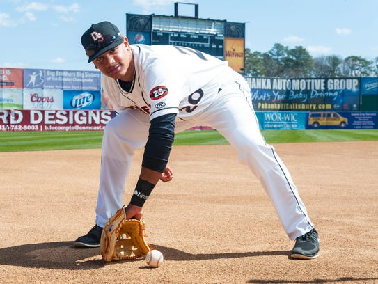 Delmarva Shorebirds third baseman Jomar Reyes was named