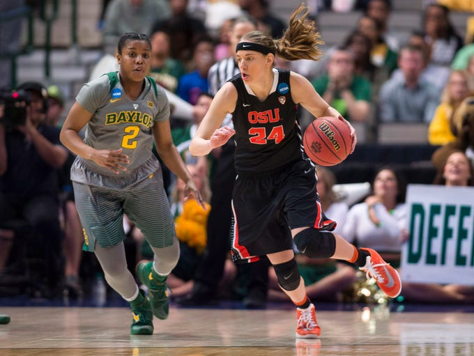 Mar 28, 2016; Dallas, TX, USA; Oregon State Beavers