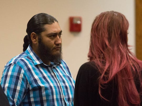 Stephan Cordero and Josie Rubio in court on Wednesday