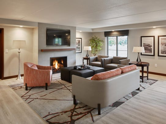Inside one of the suites at the Inn on Woodlake in
