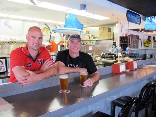 Co-owners Henrik Lagergren, left, and Chris Jones at