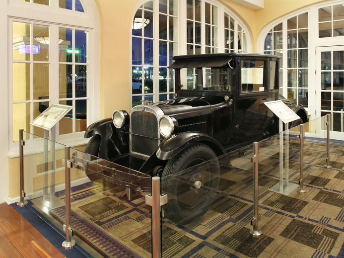 Dr. A.J. Chandler's 1925 Dodge coupe has a new home in Chandler's oldest resort.