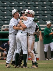 Lincoln High School celebrates their win in the  FHSAA