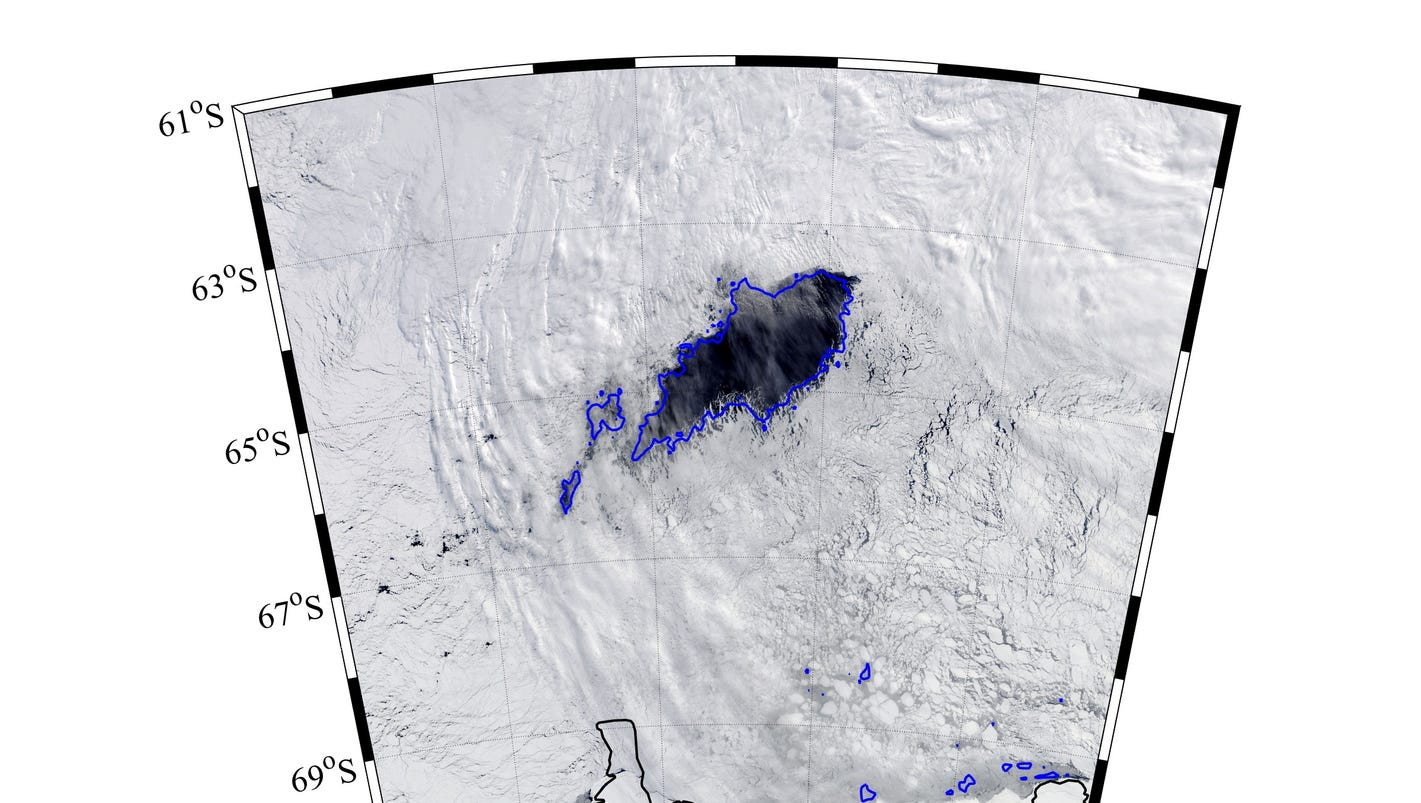 Huge, 'mysterious' hole appears in sea ice near Antarctica