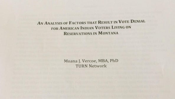 This report was given to Secretary of State Linda McCulloch.