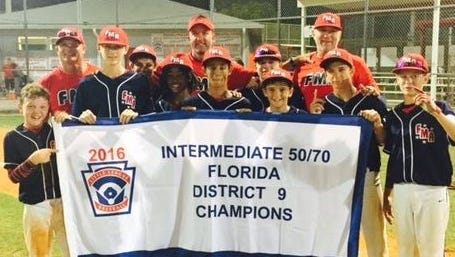 The Fort Myers American 50/70 District 9 champions
