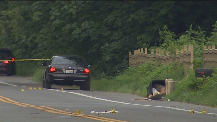 The scene where an Olympia police officer shot to assault
