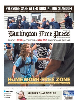 Nicole Higgins DeSmet wrote this front page story about a homework-free policy at Orchard Elementary School in South Burlington.