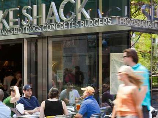 The exterior of a Shake Shack location.