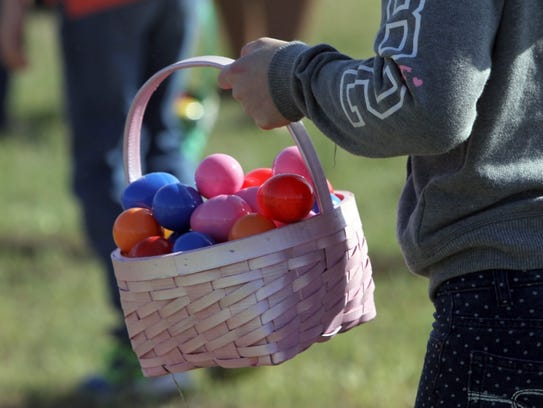 More than 10,000 candy-filled eggs will pepper Lucy