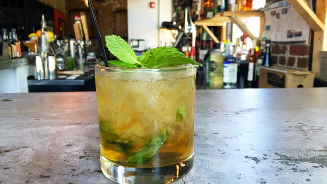 A Traditional Mint Julep made by Adam Hayden at BarRev.