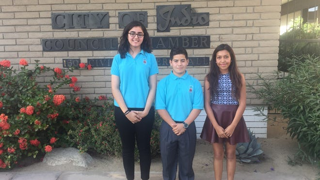 Guadalupe Torres, Saul Leira and Maria Talamantes, students at Indio High School, have visions for the future of their city.