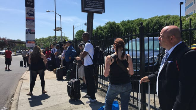 Folks waited 45 mins for the shuttle from Trenton to West Trenton in order to catch the train to Philadelphia.