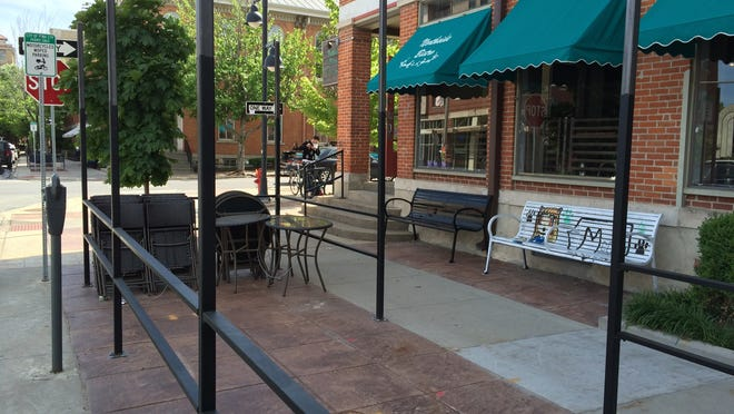 Northside Bistro's patio is seen Tuesday, May 19, 2015. The restaurant's front house manager said the space has added eight tables to the dining space.