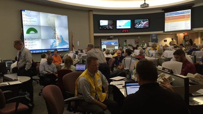 About 160 people trained to respond to a major hurricane Wednesday during a drill called the Hurricane Sasser Exercise. The training was held at the Escambia County Emergency Operations Center.